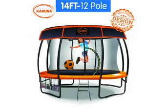 14ft-12 Pole Kahuna Trampoline Roof Shade Cover