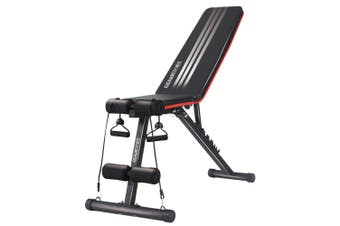 Flat Home Gym Bench Powertrain Adjustable Incline Decline FID