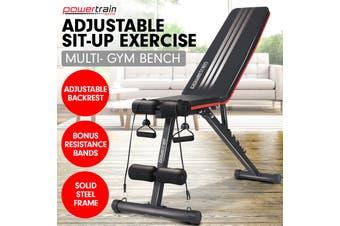 Flat Home Gym Bench Powertrain Adjustable Incline Decline FID