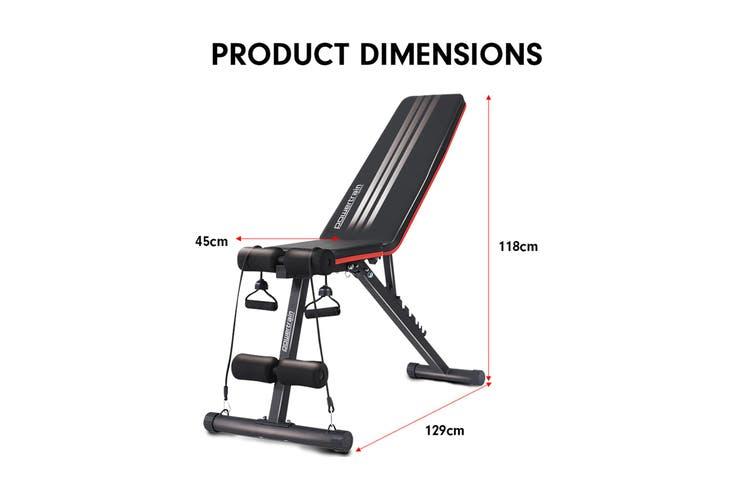 Powertrain Home Gym Bench Powertrain Adjustable Incline Decline FID