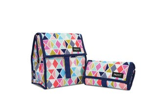 NEW PACKIT PERSONAL COOLER LUNCH BAG FREEZE & GO - FESTIVE GEM PACK IT USA