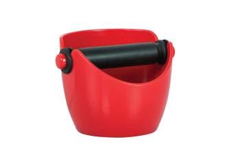 NEW AVANTI RED COFFEE KNOCK BOX ESPRESSO GRINDS WASTE TAMPER BIN 15101 SAVE