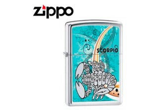New Zippo High Polish Chrome Zodiac Lighter - Scorpio