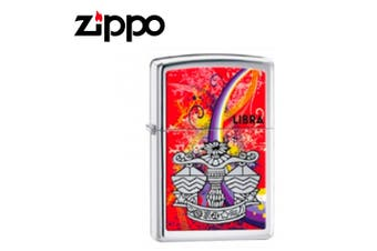 New Zippo High Polish Chrome Zodiac Lighter - Libra