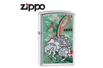 New Zippo High Polish Chrome Zodiac Lighter - Aries