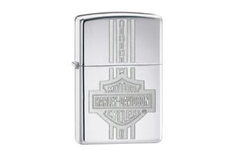 New Zippo High Polish Chrome Harley Davidson Chain Lighter