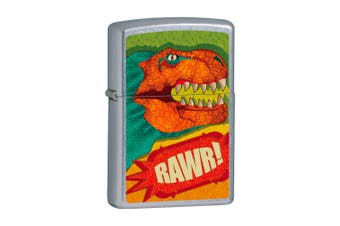 New Zippo Street Chrome T-Rex Lighter