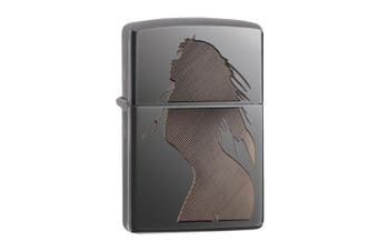 New Zippo Black Ice Seductive Silhouette Lighter