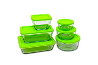 Kitchen Classics 12pc Glass Storage Food Container Set w/ Lid 12 Piece