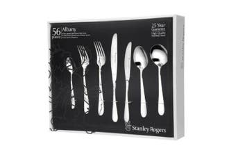 STANLEY ROGERS 56 Piece Stainless Steel ALBANY 56pc Cutlery Set