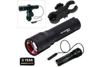 "Led Lenser P7.2 W/ Gun Mount & Pressure Switch ZLLL1200LA - 320 lumens ""FREE POS"