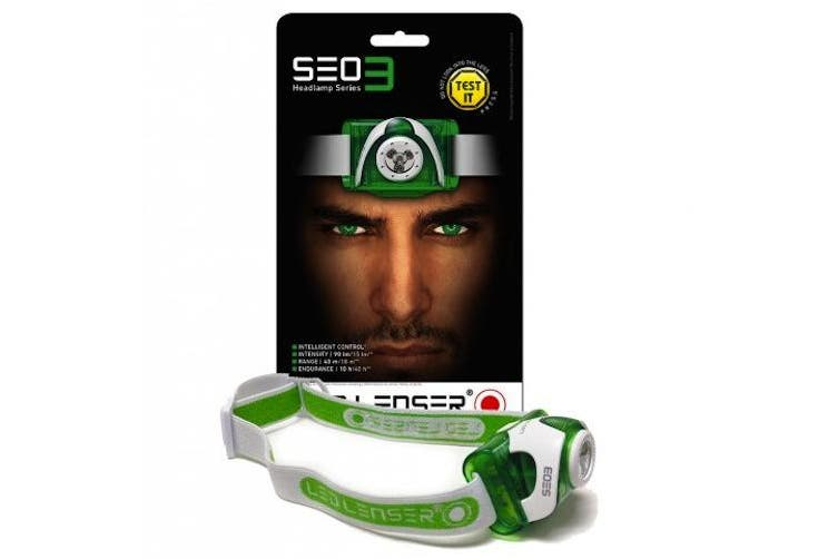 LED LENSER SEO 3 HEADLAMP HEAD TORCH 100 LUMENS - GREEN SEO3 SAVE !
