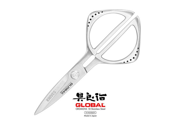 NEW Japanese GLOBAL 21cm Kitchen Shears Scissors Gift Boxed 79577