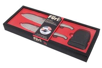 FURI PRO EAST WEST Stainless Steel 3pc Knife 17/13cm Gift Set + Sharpener 41363