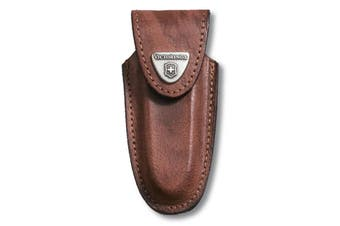 SWISS ARMY KNIFE 2 - 4 LAYER BROWN LEATHER POUCH VICTORINOX SHEATH 4.0533