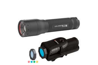 LED LENSER P7R RECHARGEABLE 1000 LUMENS TORCH FLASHLIGHT + INTELLIGENT FILTER