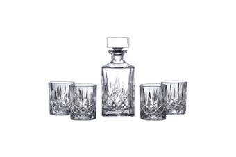 New Royal Doulton Square Spirit Crystalline Decanter Set   Decanter & 4 Tumblers