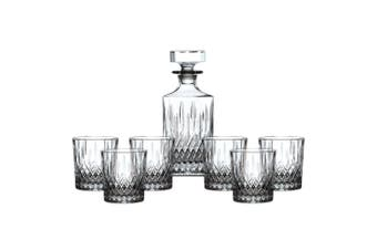 Royal Doulton Earlswood Crystal Whiskey Decanter Set | Decanter + 6 Tumblers