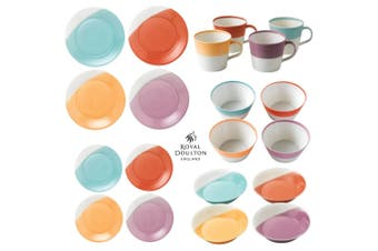 Royal Doulton 20pc 1815 Tableware Brights Dinner Set of 20 Mug Bowl Plate