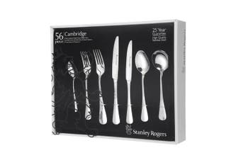 STANLEY ROGERS 56 PIECE STAINLESS STEEL CAMBRIDGE CUTLERY SET 56PC