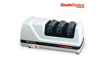 CHEF'S CHOICE PRO ELECTRIC DIAMOND HONE KNIFE SHARPENER 120 WHITE Hone EdgeSelect
