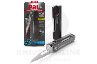 NEBO PAL + 400 LUMEN RECHARGEABLE LED FLASHLIGHT POWERBANK FOLDING KNIFE 3IN1