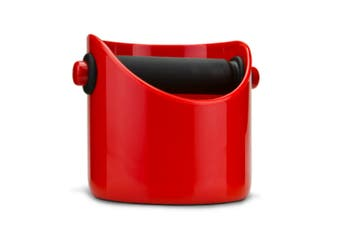 RED GRINDENSTEIN COFFEE BOX COFFEE GRINDS TAMPER