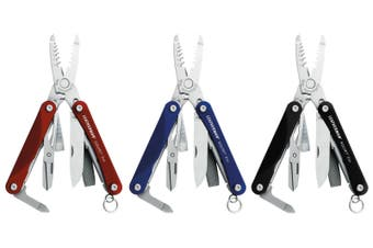 LEATHERMAN SQUIRT ES4 ELECTRICIAN MULTITOOL W/ WIRE STRIPPERS BLACK | BLUE | RED