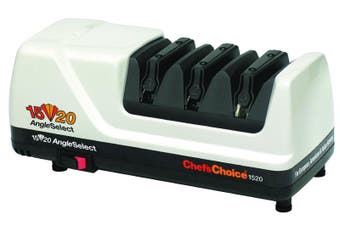 NEW WHITE Chef's Choice Electric Diamond Knife Sharpener Professional CC1520 AngleSelect AUS STOCK