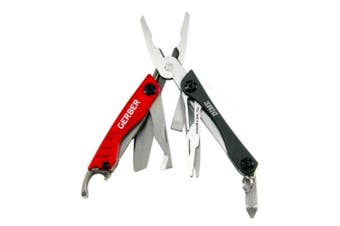 GERBER DIME RED STAINLESS STEEL MULTI TOOL PLIER SCISSORS KNIFE 31-001040