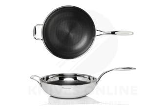 STANLEY ROGERS 42317 MATRIX TRY-PLY NONSTICK WOK 32CM S/STEEL SUITS INDUCTION