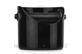 BLACK BIG 85% LARGER GRINDENSTEIN KNOCK BOX COFFEE GRINDS TAMPER
