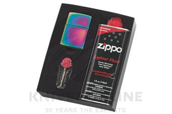 NEW ZIPPO SPECTRUM LIGHTER WITH FLUIDS + FLINTS GIFT BOX FREE POST