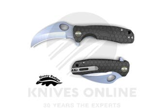 HONEY BADGER PLAIN BLADE CLAW MEDIUM POCKET FOLDING KNIFE YHB1121 - BLACK
