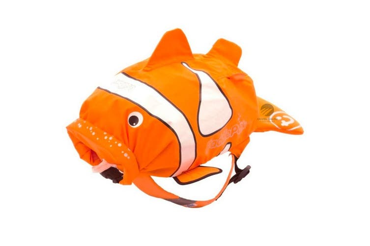 NEW TRUNKI PADDLEPAK WATERPROOF SWIM BACKPACK - CHUCKLES CLOWN FISH MEDIUM