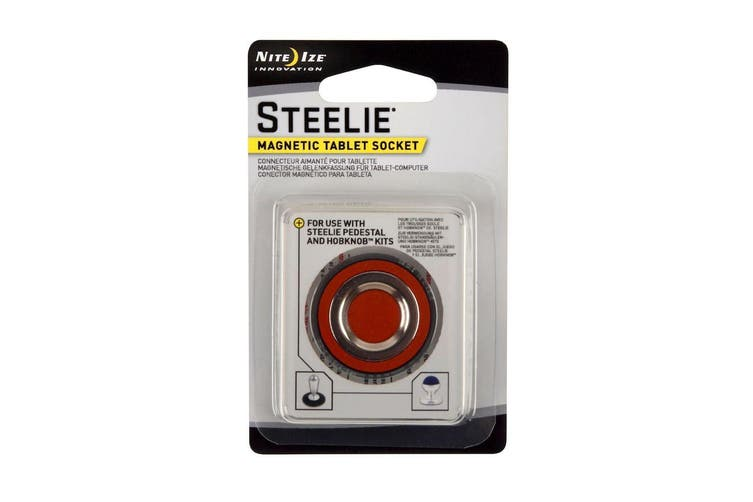 NITE IZE STEELIE LARGE MAGNETIC TABLET SOCKET & CLEANING PAD STLM11R7 HOBKNOB