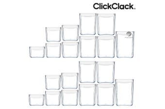 NEW CLICKCLACK 20 PIECE PANTRY STARTER CONTAINER SET AIR TIGHT 20PC