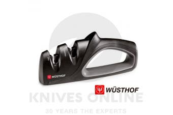 NEW WUSTHOF BLACK 2 STAGE PULL THROUGH KNIFE SHARPENER PRECISION EDGE 4347W