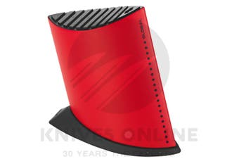 NEW GLOBAL SHIP SHAPE 9 SLOT KNIFE BLOCK - RED