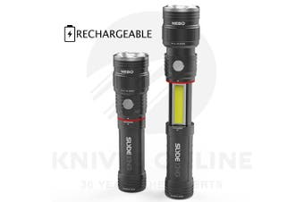 NEBO SLYDE KING RECHARGEABLE 330 LUMEN 4 MODES LED FLASHLIGHT WORK LIGHT 89510
