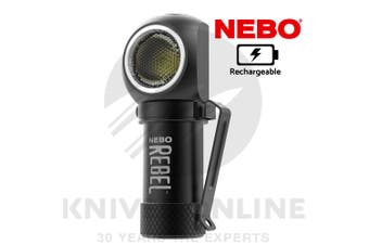 NEBO REBEL RECHARGEABLE 600 LUMEN 4 MODES LED HEAD LAMP TASK LIGHT 89515