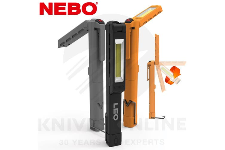 NEBO LEO 220 LUMEN LED POCKET WORK SPOT LIGHT HANGING HOOK KICK STAND 89530