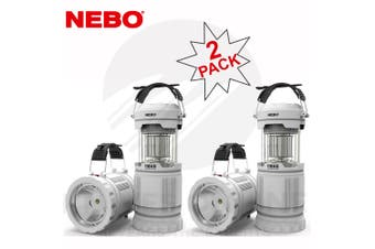 NEBO Z-BUG 2 PACK MOSQUITO ZAPPER LED LANTERN + SPOTLIGHT LIGHT INDOOR OUTDOOR 89524
