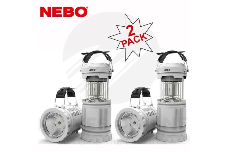 NEBO Z-BUG 2 PACK MOSQUITO ZAPPER LED LANTERN + SPOTLIGHT LIGHT INDOOR OUTDOOR 89524