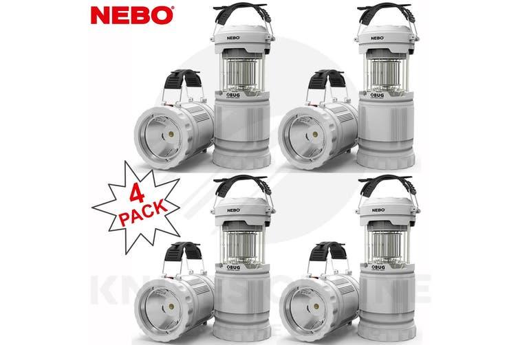 NEBO Z-BUG 4 PACK MOSQUITO ZAPPER LED LANTERN + SPOTLIGHT LIGHT INDOOR OUTDOOR 89524
