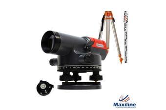Maxiline AT32 Automatic 33X Magnification Dumpy Level + Tripod Staff