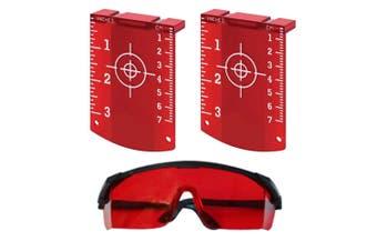 Maxiline Laser Target x2 + Laser Glasses Red Beam