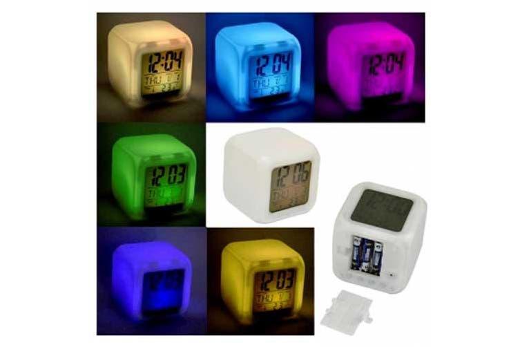 LED Colour Changing Digital Alarm Clock