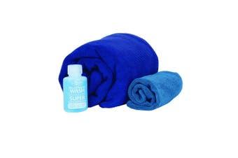 Sea to Summit Tek Towel Wash Kit Lge Cobalt