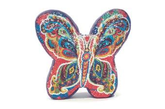 Sequin Rainbow Butterfly Cushion